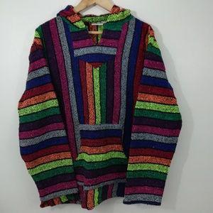 Vintage 90s Rainbow Baja Jacket Size L